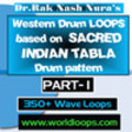 WESTERN DRUM LOOP with INDIAN DRUM PATTERN - PART- 1